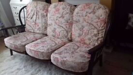 Johnson and Holland floral cottage suite sofa and chair.