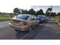 Hyundai accent 1.5 diesel very low mileage for sale or swap with 7 seater car