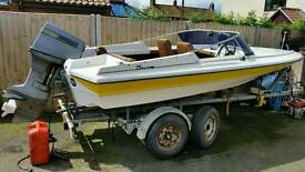 Broom speedboat speed boat 65hp