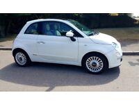 Fiat 1.2 500 lounge New MOT tax £30 per year