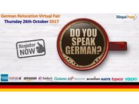 German Relocation Virtual Recruitment Fair, 26th October, 2017