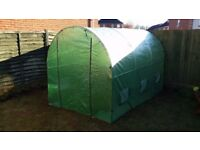 Greenhouse / Polytunnel 2x3x2m + shelves + pots + trays + LCD thermometer
