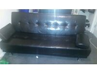 Faux leather sofa/bed