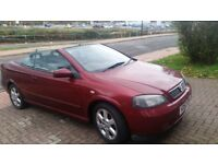 VAUXHALL ASTRA CONVERTIBLE, 12MONTHS MOT, SERVICE HISTORY, CHEAP ON FUEL TAX, CD ALLOY £675ONO