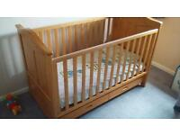 Tutti Bambini Pine Cot Bed with Drawer