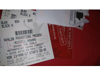 2 Russell Howard tickets March 13 Cardiff block a row j 10 rows from stage tickets in hand