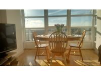 Natural Pine Dining Set. 8 Chairs + Extendable Table