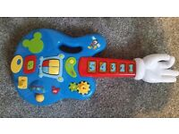 Mickey mouse musical light up guitar