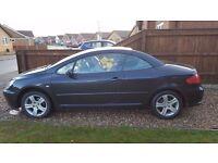 Used Peugeot 307cc cheap car for sale, convertible, petrol 2 litre