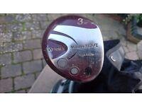 3 Ladies Yonex V Mass 350 FL Titanium FL golf clubs. 3, 5 & 7 wood. Can sell seperately