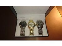 Watch, Quartz buy singly or all 3 as a box set, unwanted Xmas gift