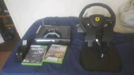 Xbox 350 with steering wheel