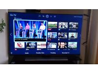 """SAMSUNG 48"""" 4K LED TV SMART/3D/FREEVIEW HD/QUAD CORE PROCESSOR/1000HZ/BUILT IN WIFI/ AS NEW"""