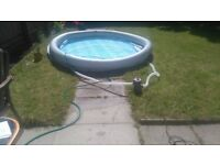 10ft swimming pool with filter and cover