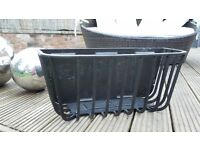 LARGE BLACK 62CM FULL DEPTH WALL MOUNTED MANGER / TROUGH / BASKET X2 AVAILABLE