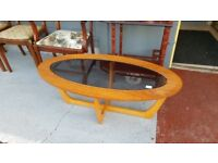 Lovely Mid Century Oval Coffee Table
