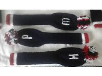 Golf club hand knitted socks