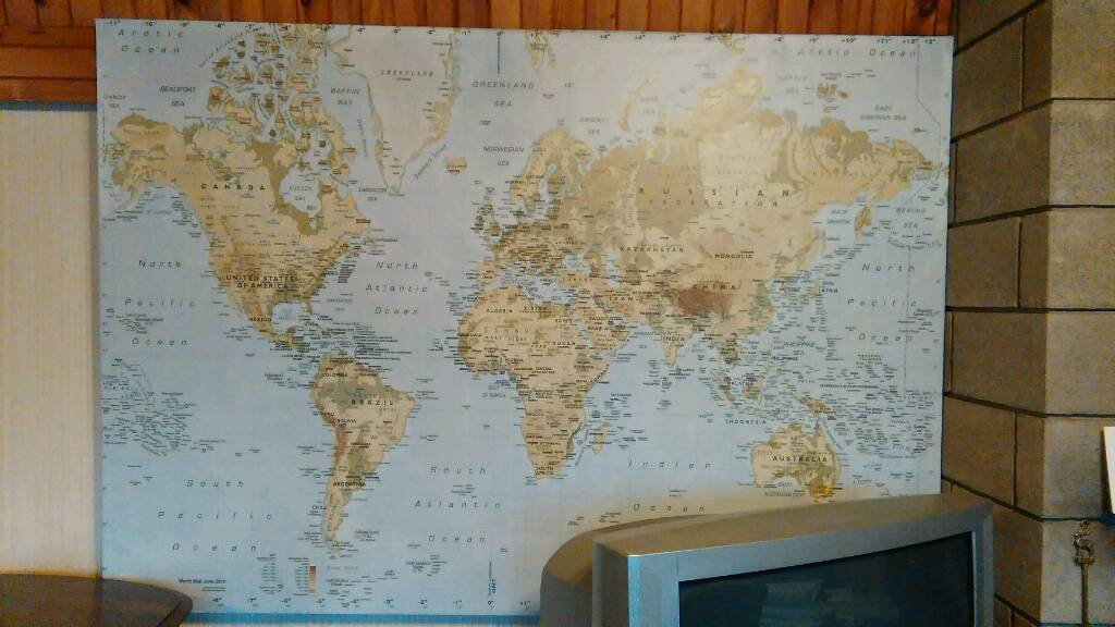 Ikea large wall ads buy sell used find right price here ikea large world map wall canvasin colinton edinburgh ikea large world map wall canvas gumiabroncs Image collections