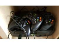 Massive Xbox original bundle 3 controllers and 90 boxed games plus emulators