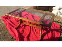 Coffee table glass & wooden top