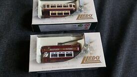 3x Lledo collectible retro model vans, boxed and vgc