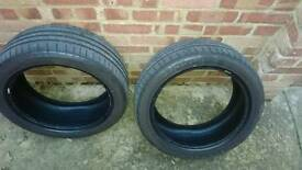 Two tyres part worn