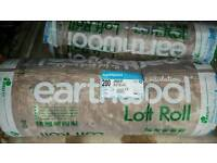 KNAUF EARTHWOOL LOFT ROLL ROOF INSULATION 100MM, 150MM, 170MM, 200MM EARTH WOOL