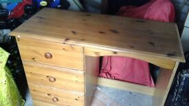Pine desk in good condition. 3 drawers solid and sturdy