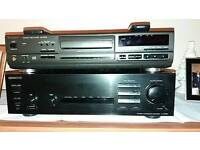 Technics Cd player. Kenwood amplifier. Sony speakers