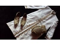 ASIAN MENS WEDDING/PARTY SHERWANI SUITS BLACK OR WHITE AVAILABLE IN EXCELLENT CONDITION WORN ONCE