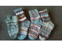 New knitted hand made wool socks