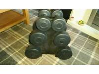 Set of 3 dumbells