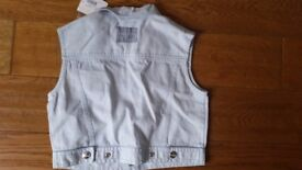 Christian Dior Denim Vest - size 6 Years Girls - new with tags