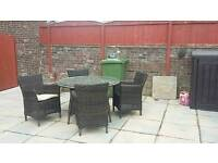 Taskers rattan table and chairs