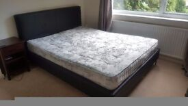 King size bed +mattress
