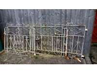 Iron driveway and side gates, 3 pieces, need paint otherwise in very good condition