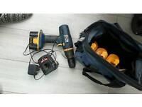 Ryobi cordless drill/batteries and bag reduced