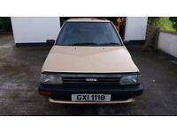 1985 3 door Toyota Starlet 1ltr GL