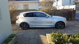 "**BMW 123D M SPORT TWIN TURBO, 87K, FSH, LEATHER, HEATED SEATS, 18"" ALLOYS, F+R SENSORS**"