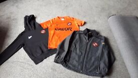 DUNDEE UNITED FOOTBALL CLUB TOP, HOODIE AND JACKET AGE 10/12