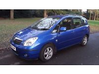 Toyota Corolla Verso 1.8 VVT-i T3 5dr MPV 2003 133bhp Petrol Manual 5 seater -1 owner from new !