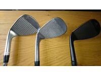 Golf Wedges - £40 each, 2 for £70 or all 3 for £100 - Cleveland 48, Cleveland 52 and Callaway 58