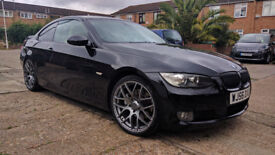Black BMW E92 330i coupe Auto - has NEW 2009 engine of 60,000 miles only