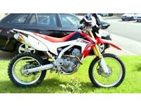 Honda CRF250L Low mileage very good condition lots of extras