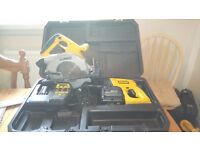 Used Dewalt 24 v cordless SDS tool set, Drill/Circular saw/bat/charger, see photos and details