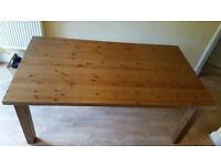 Ikea Forsby solid pine dining table for sale.