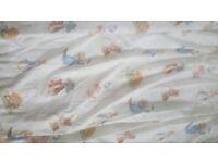 Beautiful Clean Jane Churchill Beatrix Potter Fabric Curtains plus pelmet valance