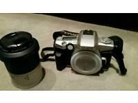 Minolta Dynax 4 SLR Camera, Lens and Case