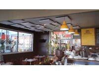 GB Acoustics - Polyester Cafe, Restaurant & Bar White Ceiling Acoustic Panels x Six