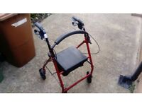 Red walking aid mint condition